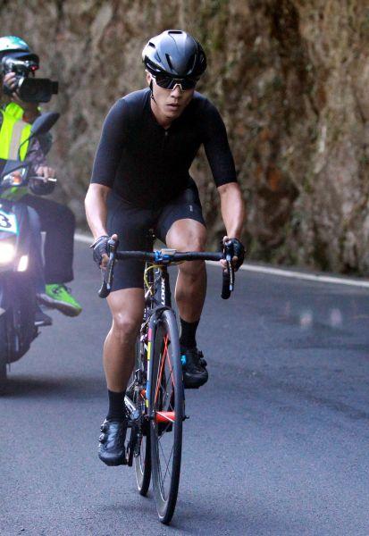 楊英瀚曾奪得台灣登山王亞軍。中華民國自行車騎士協會/提供。