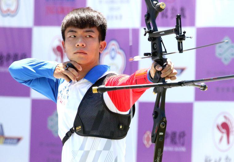 鄧宇成四輪比賽為新竹愛山林隊貢獻七場勝利。中華企業射箭聯盟/提供