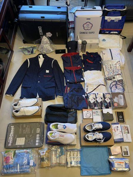 本屆東奧中華代表團行李開箱。長庚運動醫學團隊提供