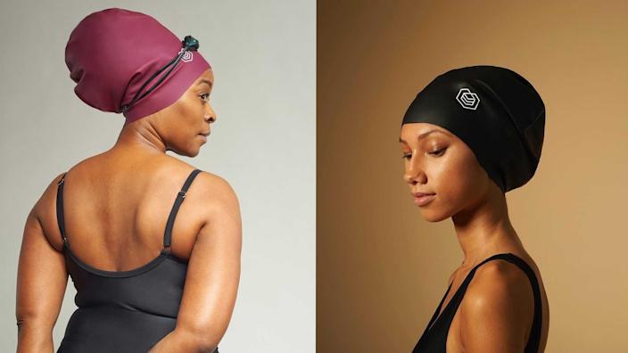 英國品牌Soul Cap製造的泳帽專門提供給非洲裔蓬鬆長髮的人使用。摘自Soul Cap