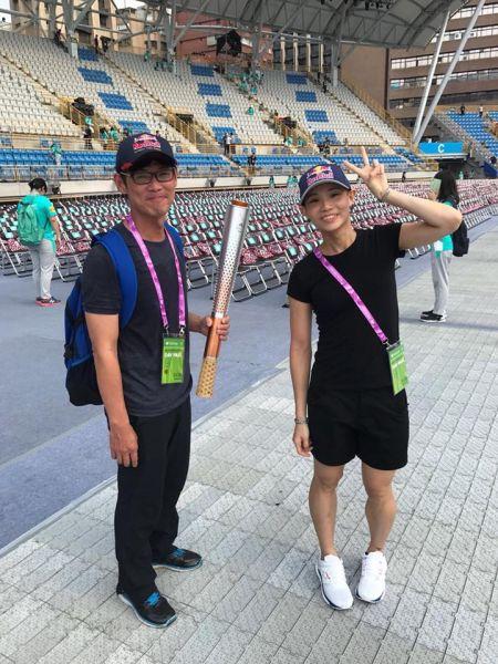 戴楠凱(左)與戴資穎。翻攝戴資穎臉書