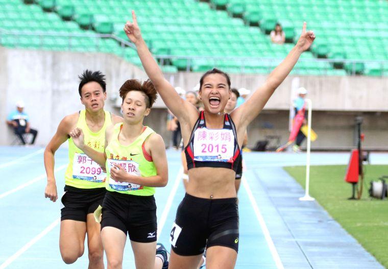北市大學陳彩娟以5196分在109年全大運公開女七項全能封后。林嘉欣/攝影