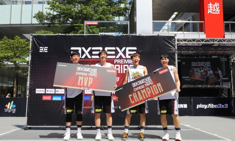 3X3.EXE女子組第一回合冠軍台北國泰隊。官方提供