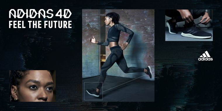 adidas Futurecraft 4D搭載超未來Futurecraft 4D科技中底,可分別強化鞋跟、中足及腳掌三個關鍵區域設計,提供絕佳的能量回饋。官方提供