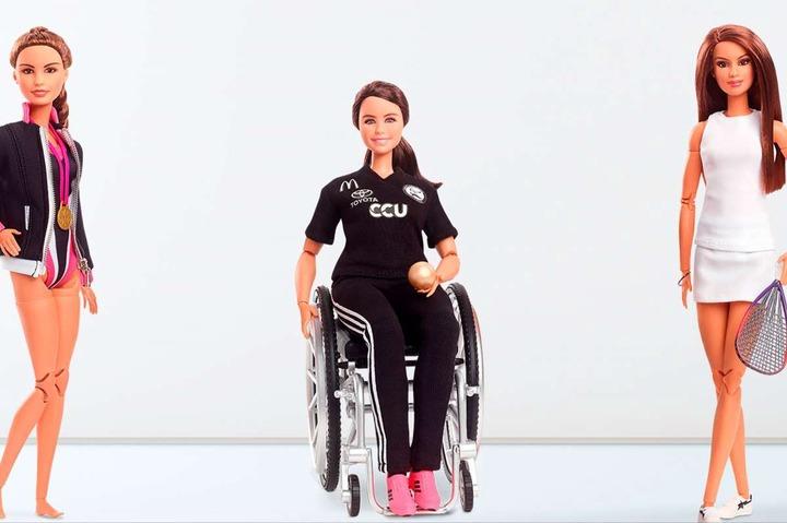 美泰兒推出三款芭比娃娃,向南美洲選手致敬。摘自美泰兒官網