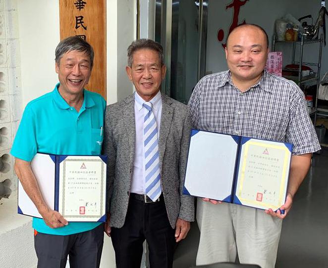 中華民國田徑協會南部辦公室今天揭牌。田徑協會/提供。