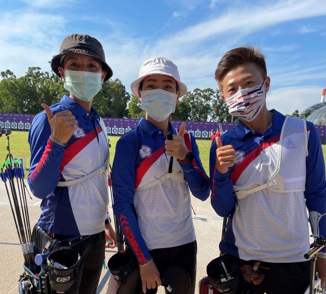 中華女子射箭隊三名女將。林政賢提供