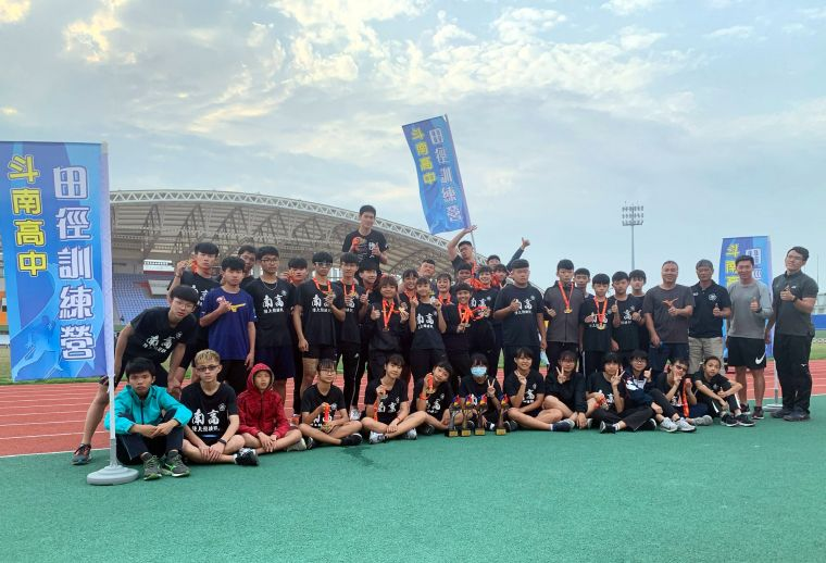 斗南高中田徑訓練營。斗南高中/提供。