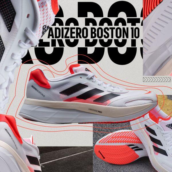 專為中長距離訓練打造的adidas adizero Boston 10全新改版、強勢厚底升級並加入碳纖維裝置,提供跑者更多緩震及回彈力。官方提供