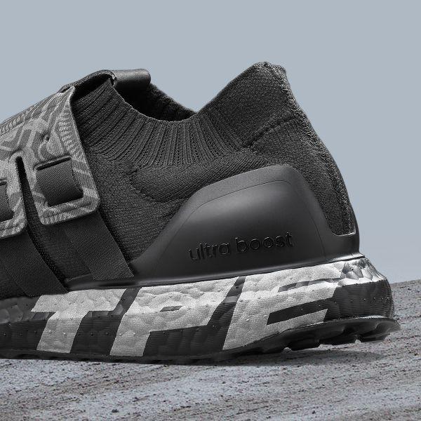 "adidas Ultraboost City Pack ""Taipei"" 全黑BOOST印上銀色TPE字樣更象徵城市專屬身分,邀請跑者一同探索台北城市魅力。官方提供"