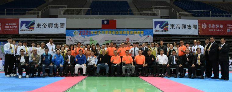 議長盃全國跆拳道錦標賽大合照。大會提供
