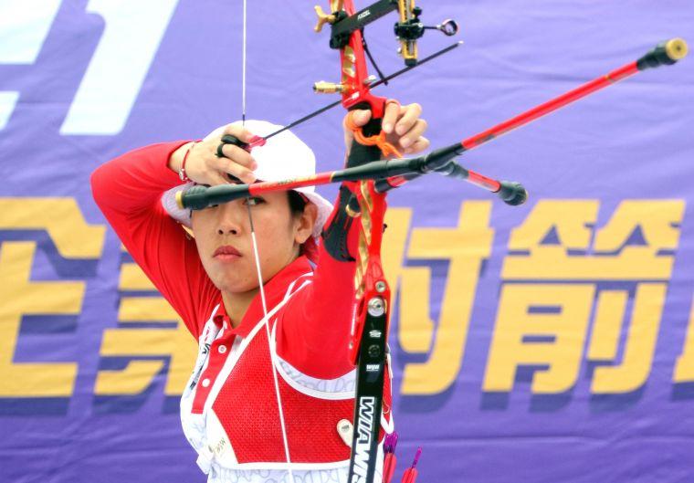 台中銀行譚雅婷。中華企業射箭聯盟/提供。