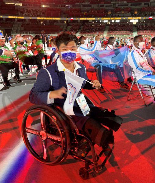 中華帕運選手參加開幕典禮。體育署提供
