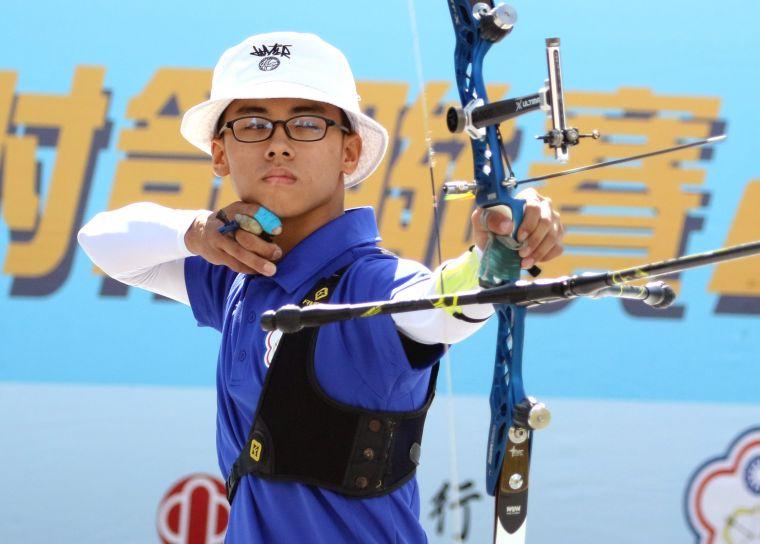 協會青年隊吳昱明。中華企業射箭聯盟/提供。