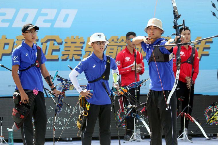 協會青年隊男團。中華企業射箭聯盟/提供。