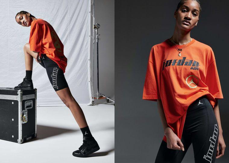 Jordan品牌全新摩托賽車系列女子服飾短袖上衣。官方提供
