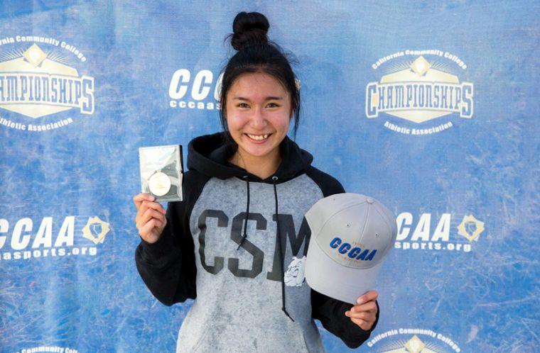廖晏均在CCCAA California State Championships勇奪雙金。圖/取自cccaasports.org官網