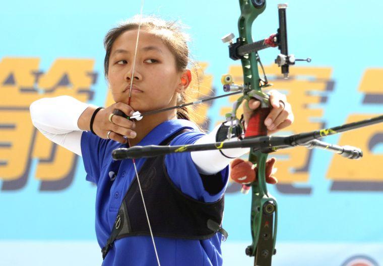 協會青年隊邱意晴。中華企業射箭聯盟/提供。