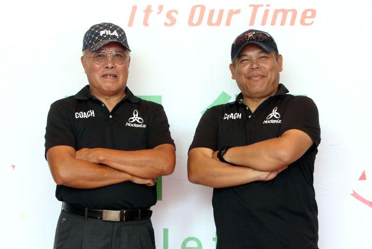 林清光(左)和堂弟朱明芳都是田徑國家級教練。林嘉欣/攝影。