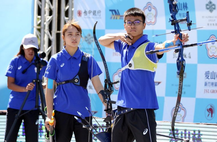 協會青年隊混雙陽亞蓉/蘇于洋。企業射箭聯盟/提供。