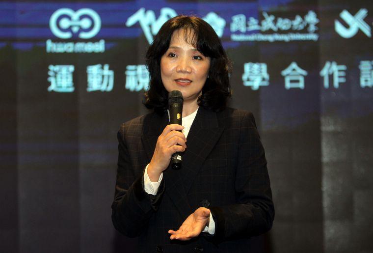 華美集團720副總許美惠。720armour運動眼鏡/提供。
