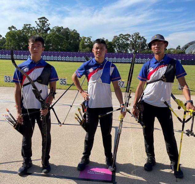 中華射箭隊三名男子選手。林政賢提供