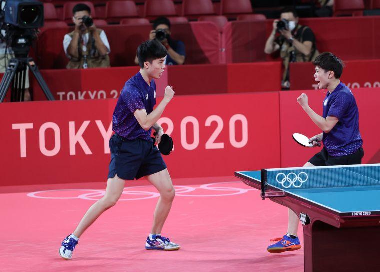 東奧混雙銅牌組合林昀儒/鄭怡靜明天全運將再度合體。資料照片
