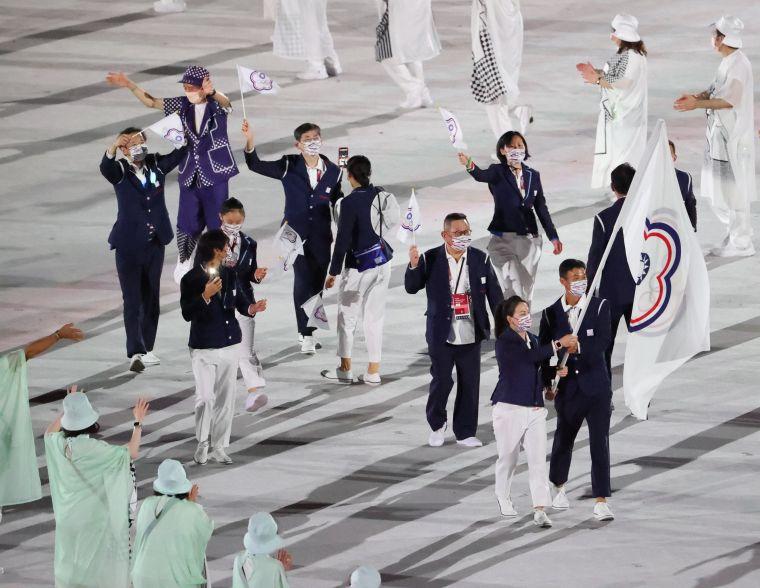 受疫情影響,今年東奧中華隊只有5名選手代表出席。李天助攝