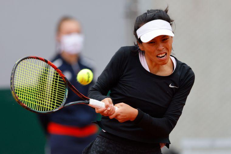 謝淑薇爆出今年澳網最大冷門晉32強。資料照片