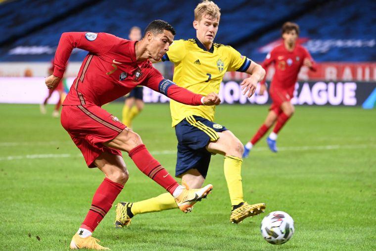 今年歐國盃將是C.羅最後一屆賽事。法新社