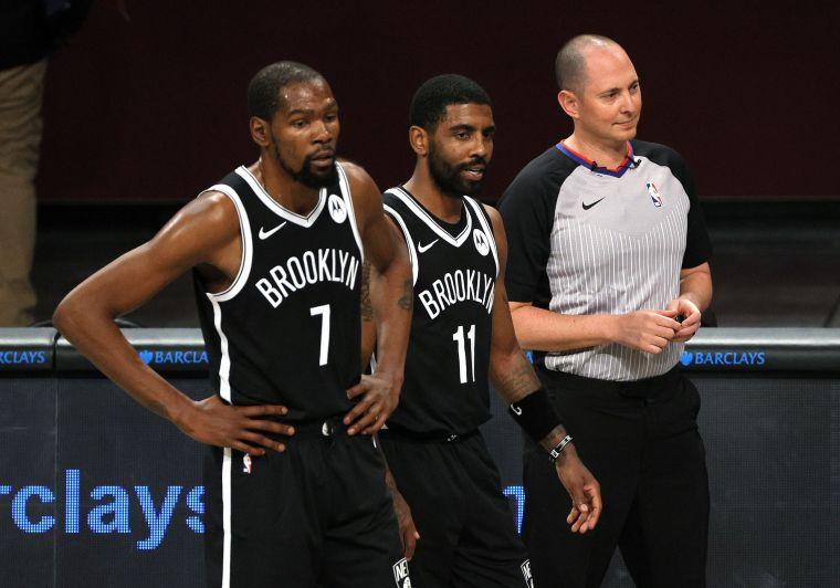 籃網兩大巨星杜蘭特(Kevin Durant)、歐文(Kyrie Irving)傷癒復出。法新社