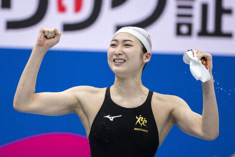 池江璃花子終於拿到東京奧運的參賽資格。法新社