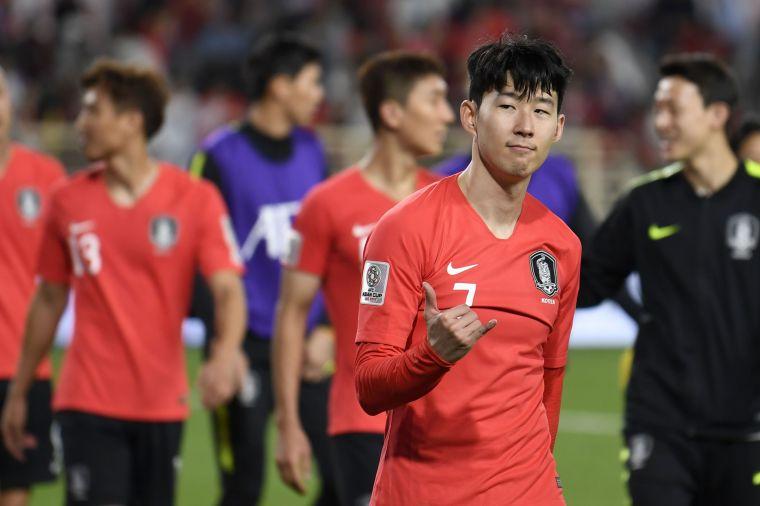 孫興慜助南韓拿下第三勝。法新社