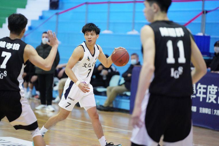 文化楊皓韋15分8籃板。大會提供