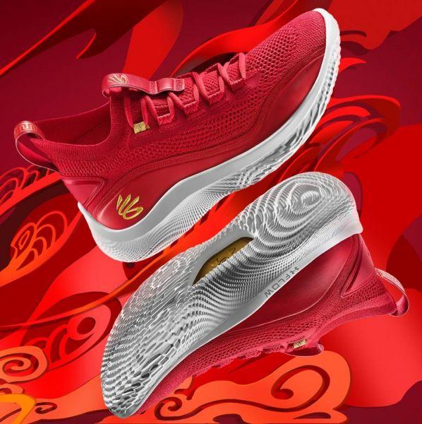 CURRY FLOW 8以霸氣十足的紅色外觀,搭配鞋側的金線刺繡LOGO,為籃球戰靴增添濃厚東方文化色彩。官方提供