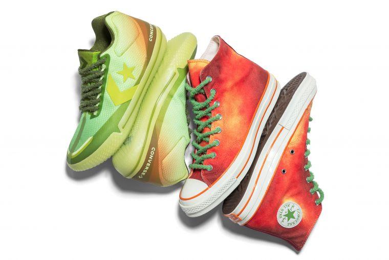 Converse 聯手 Concepts 打造經典 Chuck 70 和 All Star BB Evo 兩款聯名鞋型。官方提供