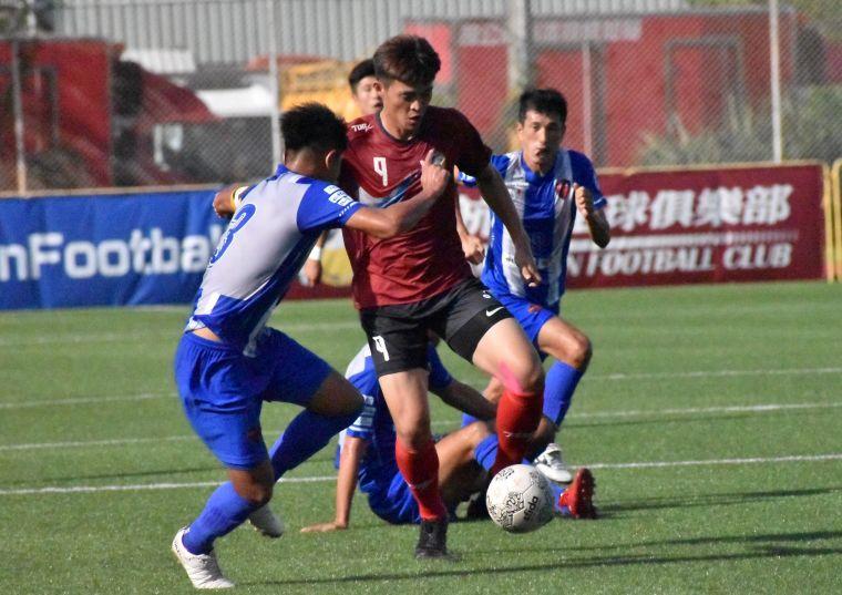 航源FC陳慶烜終場前浪費一次絕佳進球機會。航源FC提供