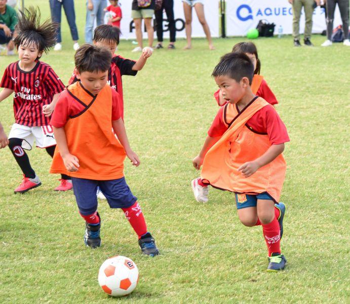 首度以航源天使隊名稱參加台北市幼兒足賽。大會提供
