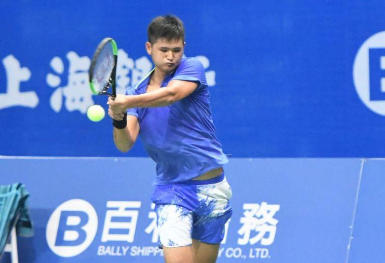 吳東霖於澳網男單會外賽最後一輪三盤惜敗。資料照片