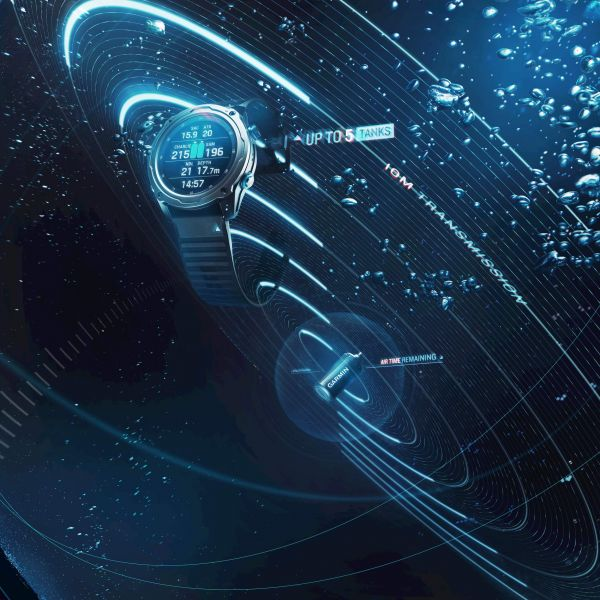 Descent Mk2i搭配Descent T1發射器的應用祭出創新的技術突破 -獨創SubWave 潛聲納技術,Garmin再次開創潛水產業新紀元。官方提供