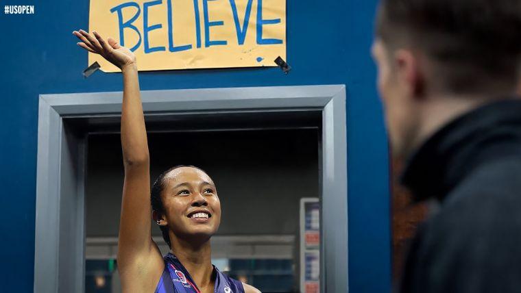 「相信自己」是弗南德茲最大的信念。摘自美網推特