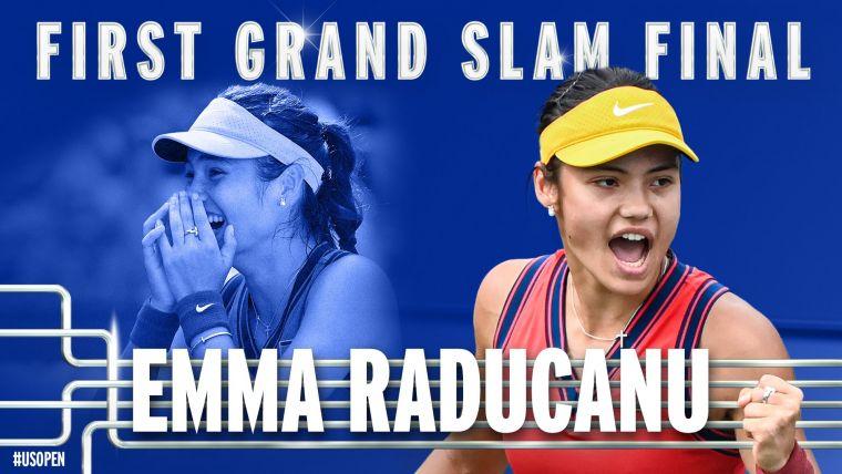 拉杜卡努成為美網史上首位從會外打進決賽的球員。摘自美網推特