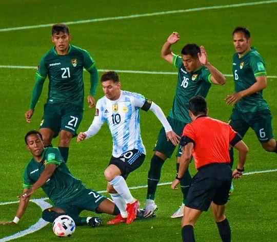 梅西包辦3個進球。摘自阿根廷隊推特