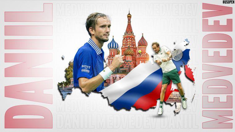 梅德維耶夫二度闖進美網男單決賽。摘自美網推特