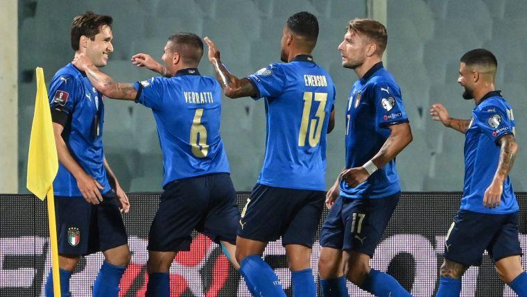 基耶薩(F.Chiesa,左1)為義大利射進唯一1球。摘自FIFA推特