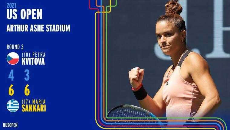 希臘薩卡里連兩島闖進美網女單16強。摘自美網推特