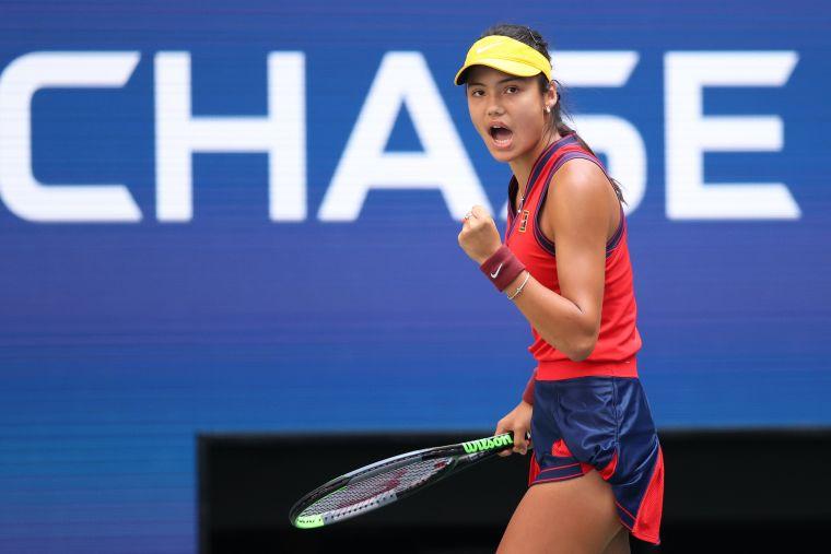 拉杜卡努第一次參加美網就打進8強。摘自WTA推特
