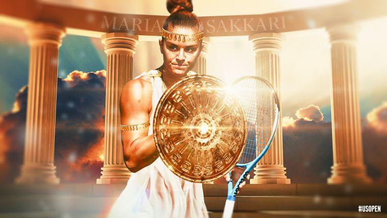 希臘女戰神薩卡里崩盤。摘自美網推特