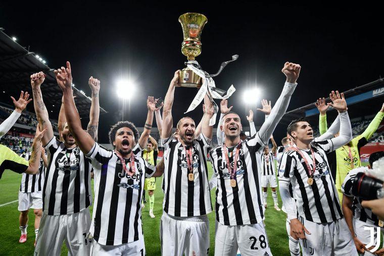 尤文圖斯在義大利盃第14次奪冠。摘自尤文圖斯官方推特