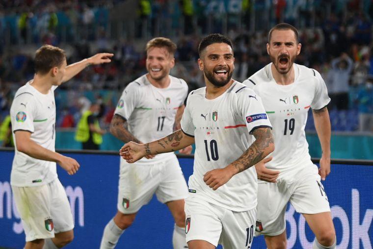 義大利開幕戰以3球力克土耳其。摘自歐國盃推特